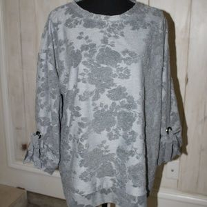 NWOT Simply Vera Vera Wang Tie-Sleeve French Terry